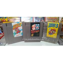 Super Mario Bros 1,2 y 3...
