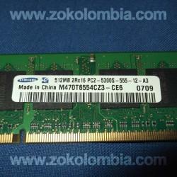 Memorias RAM 1GB DDR2 Portátil